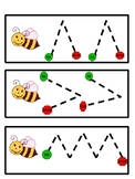 Spring Bee Fine Motor Tracing Cards