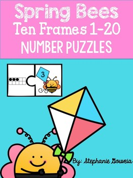 Spring Bee Ten Frame Puzzles