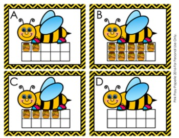 Spring Bee Ten Frames Count the Room