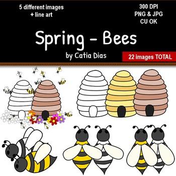 Spring - Bees Clip Art