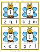 Spring Bees Letter Match Clip Cards