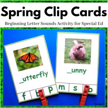 Spring Beginning Letter Clip Cards