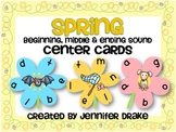 Spring Beginning, Middle & Ending Sound Center Cards PLUS Printable!