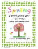 Spring Beginning Sound Game with Bonus Math Activity