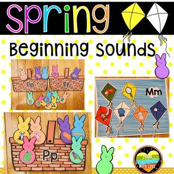 Spring Beginning Sounds Sorting Center