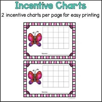 Spring Behavior Incentive Charts