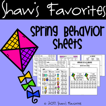 Spring Behavior Sheets