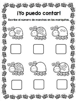 Spring Bilingual Counting Packet/ Paquete de contar primavera