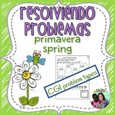 Spanish Word Problems: Spring Addition & Subtraction | Bil