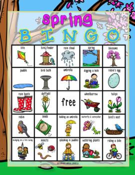 Spring Vocabulary Bingo