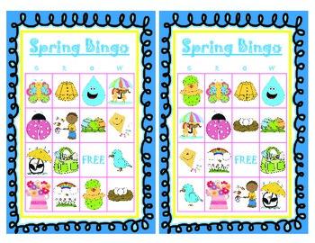 Spring Bingo Cards
