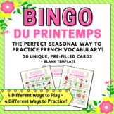 Spring Bingo Game in French   Bingo du Printemps en Française