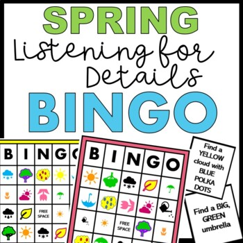 Spring Speech Therapy BINGO - Listening For Details