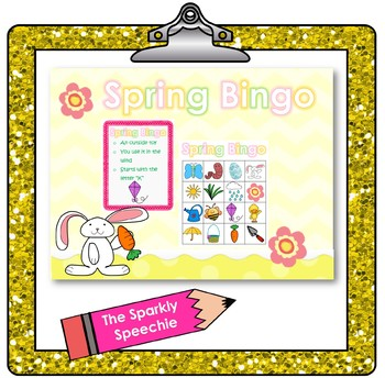 Spring Bingo - Matching Images & Labeling Described Objects