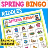 Spring Bingo Riddles Speech Therapy Activity
