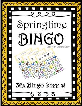 Spring Bingo! - Springtime (36 BINGO BOARDS)