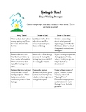 Spring Bingo Writing Prompts
