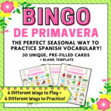 Spring Bingo in Spanish  Bingo de Primavera  Lotería de Primavera