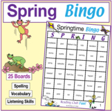 Spring Bingo (with 25 boards)