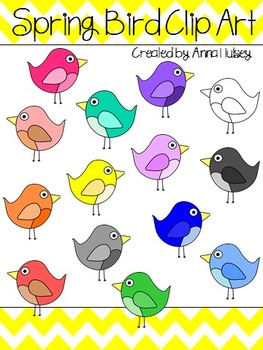 Spring Bird Clip Art (Graphics for Commercial Use)