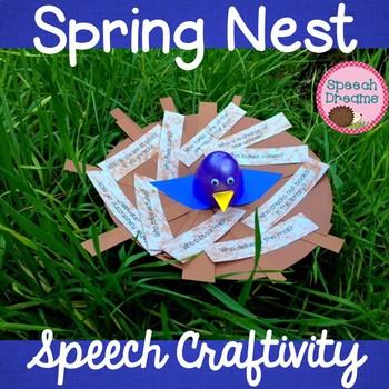 Spring Bird Nest Speech Therapy Craft {articulation language craftivities}