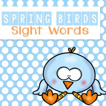 Spring Bird Sight Words