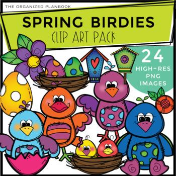 Spring Clip Art - Little Birdies