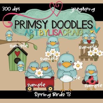 Spring Birds 300 dpi clipart