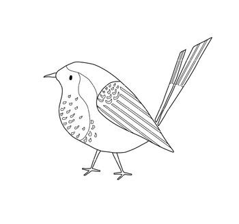 Spring Birds, Black and White Clip Art, Bird Clip Art, Spring Clipart