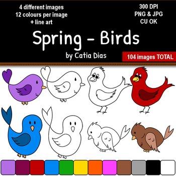 Spring - Birds Clip Art