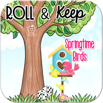 Springtime Birds Roll and Keep Addition Dice Game