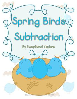 Spring Birds Subtraction Mats