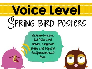 Spring Birds: Voice Levels Poster