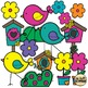 Spring Birds and Bird Houses (Clip Art for Personal & Commercial Use)