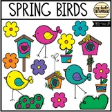 Spring Birds and Bird Houses (Clip Art for Personal & Comm