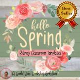 Spring Bitmoji Classroom Templates | St. Patrick's, Valent