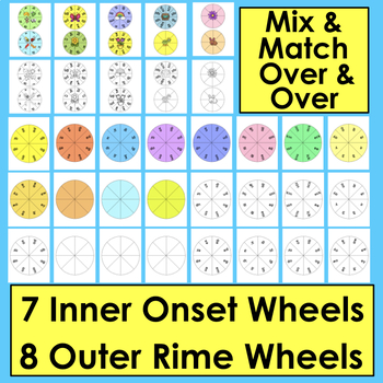 Spring Activities: Blending Build A Word Wheels - Make Up To 63 Sets - CCSS