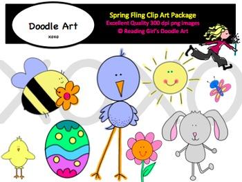Spring Bling Clipart Pack