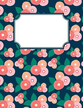 spring bloom editable binder covers spines and divider tabs by ezpz