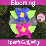Spring Blooming Flower Speech Therapy Craft {articulation language craftivity}