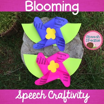Spring Blooming Flower Speech Therapy Craft {articulation