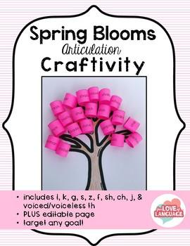 Spring Blooms Articulation Craftivity--Editable!