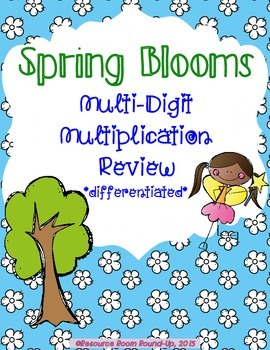 Spring Blooms Differentiated Multi-Digt Multiplication Review