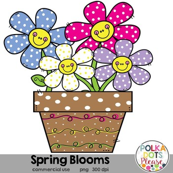 Spring Blooms Flower Clipart {Graphics for Commercial Use}