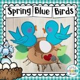 Spring Blue Birds and Nest Craft
