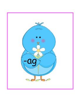 Spring Bluebirds short a word families