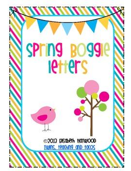 Spring Boggle Letters