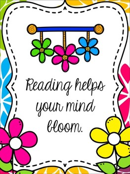 Spring Book Display Signs for Your Library/Media Center