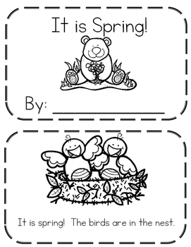 Spring Booklet using sight words