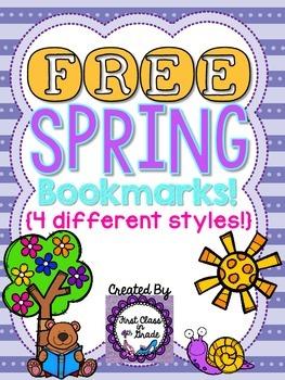 Spring Bookmarks (Free)
